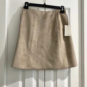 Babaton Suede Hopper Skirt